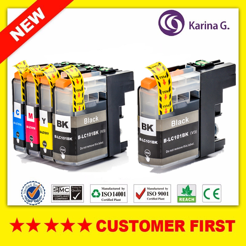 Compatible For Brother LC101 LC103 Ink Cartridge For Brother DCP-J152W MFC-J245 MFC-J285DW MFC-J450DW MFC-J470DW MFC-J475DW