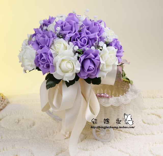 2017 Free Shipping Cheap In Stock New Arrive Colorful Wedding Bridesmaid  Artificial Flowers Bridal Bouquets