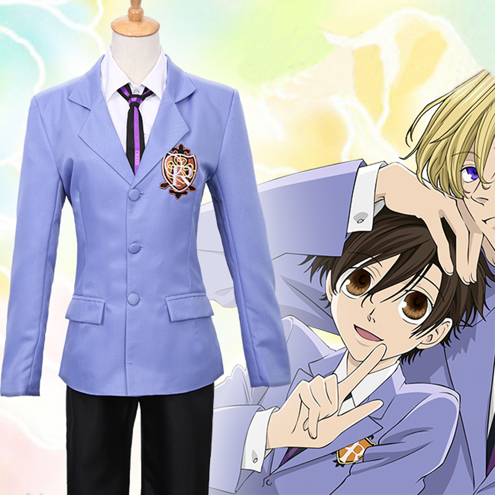 New Japanese anime Ouran High School Host Club Tamaki Suou cosplay costumes for men Halloween Costume School uniforms suits