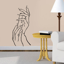 Nail Hands Art Beauty Shop Store Business Wall Stickers Decal DIY Home Decoration Mural