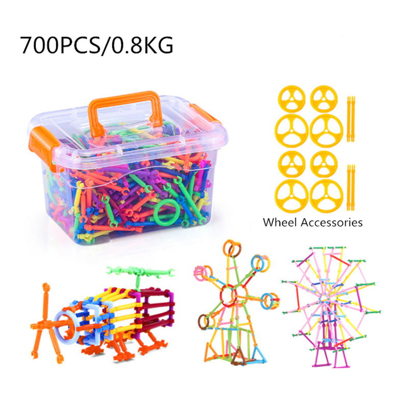 700PCS DIY Smart Block Stick for Children Plastic Assembled Magic Wand Child Early Learning Educational Toys Gifts