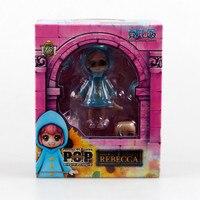 Anime One Piece POP Childhood Rebecca PVC Action Figure Model Toy 4 10cm Kunai