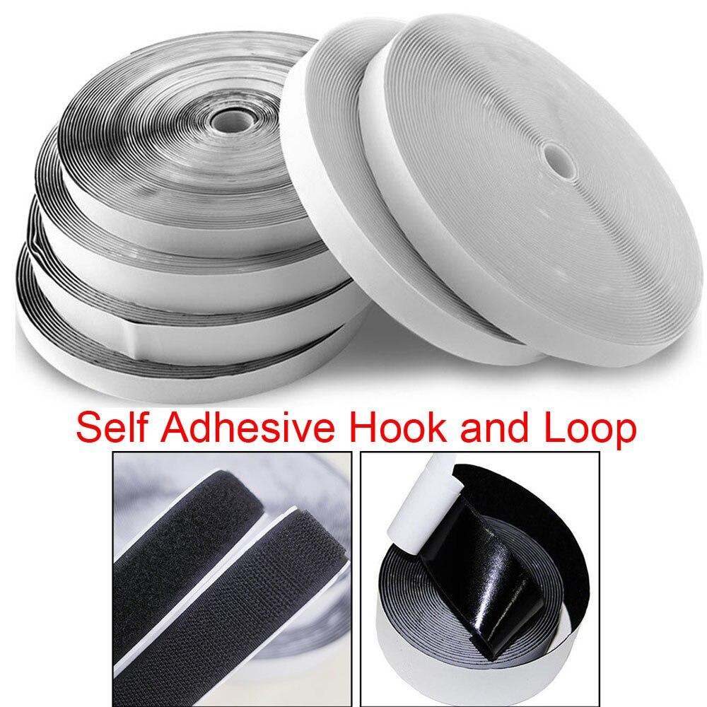 Cinta m/ágica de velcro para coser en color negro y blanco sin pegamento tiras de velcro para coser 16//20//25//30//40//50//100 mm x 1 m 2 cm de color blanco.