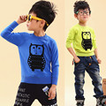 2017 child sweater personality owl boys child 100% cotton sweater basic pullover sweater ,