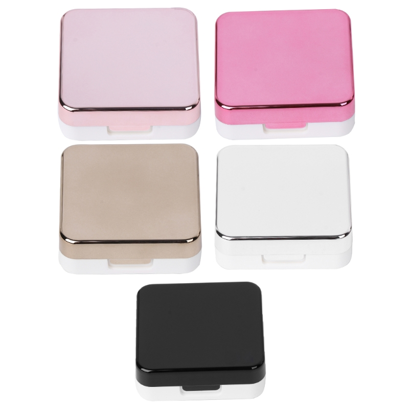 Set Of Contact Lens Box Fashion Portable Travel Contact Lens Case Storage Mirror Containers Holder ...