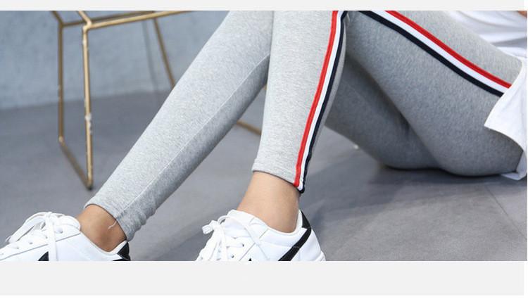 High Quality Cotton Leggings Side stripes Women Casual Legging Pant Plus Size 5XL High Waist Fitness Leggings Plump Female 31