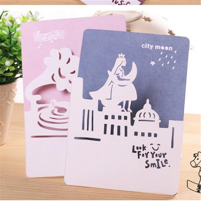 the movement of city hollow greeting card small gift card message