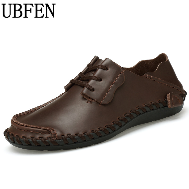 UBFEN 2017 Hot Sale handmade Split Leather Creepers Loafers Casual Shoes For Men Laces flats comfortable Male shoes 2017 new comfortable casual shoes loafers men shoes quality split leather shoes men flats hot sale moccasins shoes