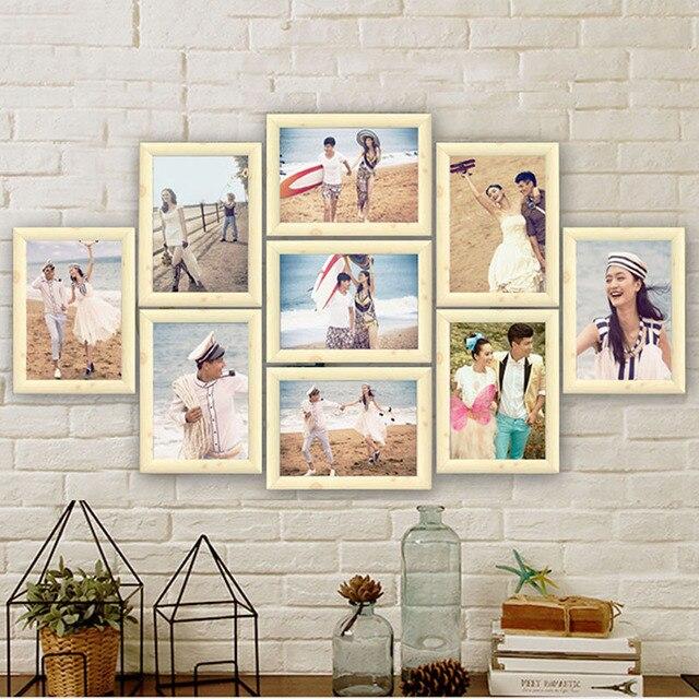 9 teile los foto rahmen set bild rahmen familie collage foto rahmen wand hangen foto