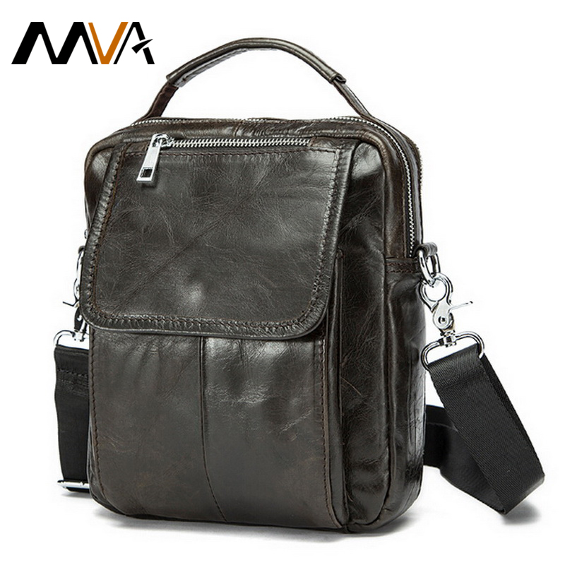 ФОТО MVA Genuine Leather Men Bag Small Shoulder Crossbody Bags Men Messenger Bags Men's Leather Bag Casual Handbags Hot Sale