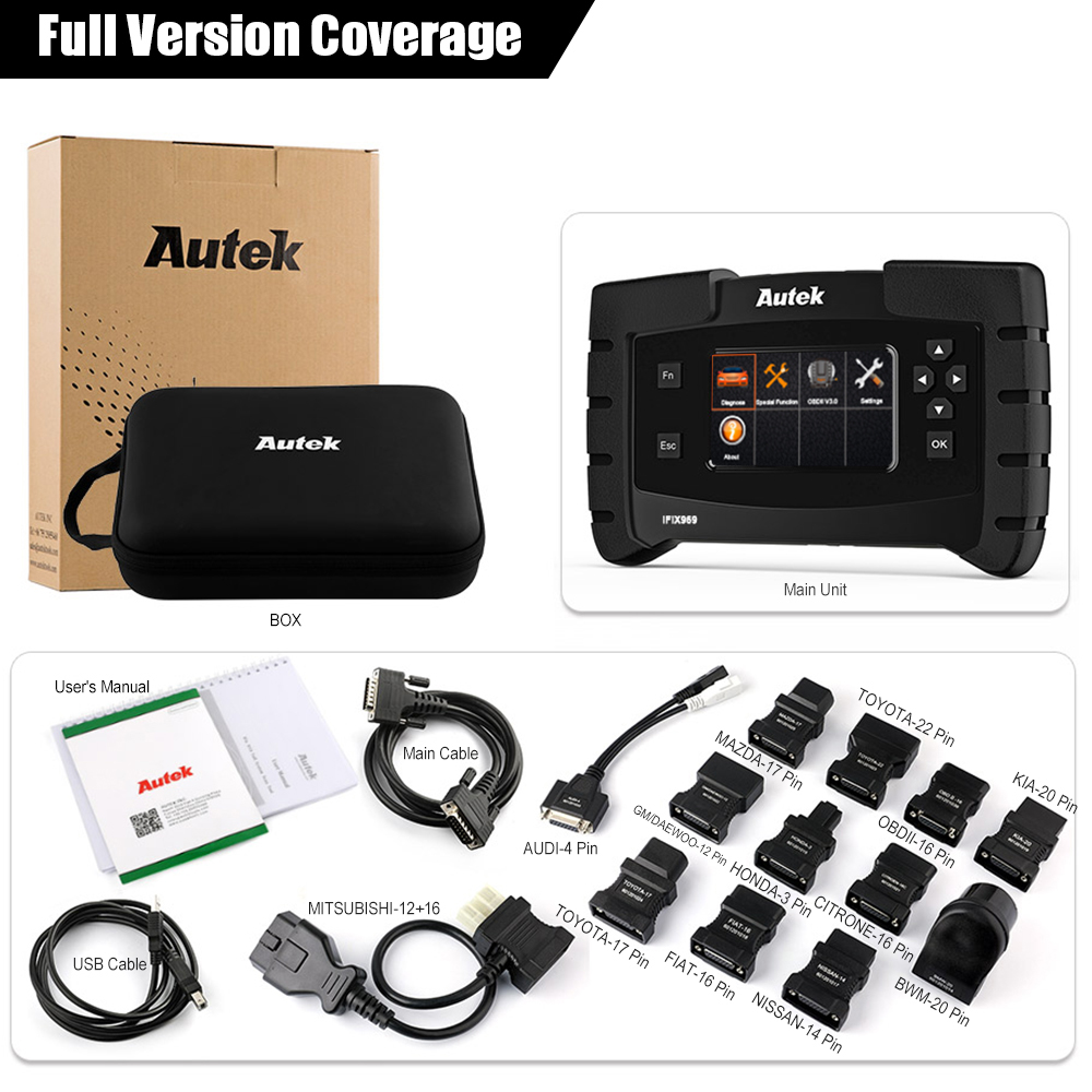 Image 5 - Autek IFIX 969 OBD2 Automotive Scanner Full System Diagnostic Engine Airbag ABS SRS EPB SAS ESP TPMS OBD OBD 2 Car Scanner Tool-in Code Readers & Scan Tools from Automobiles & Motorcycles on