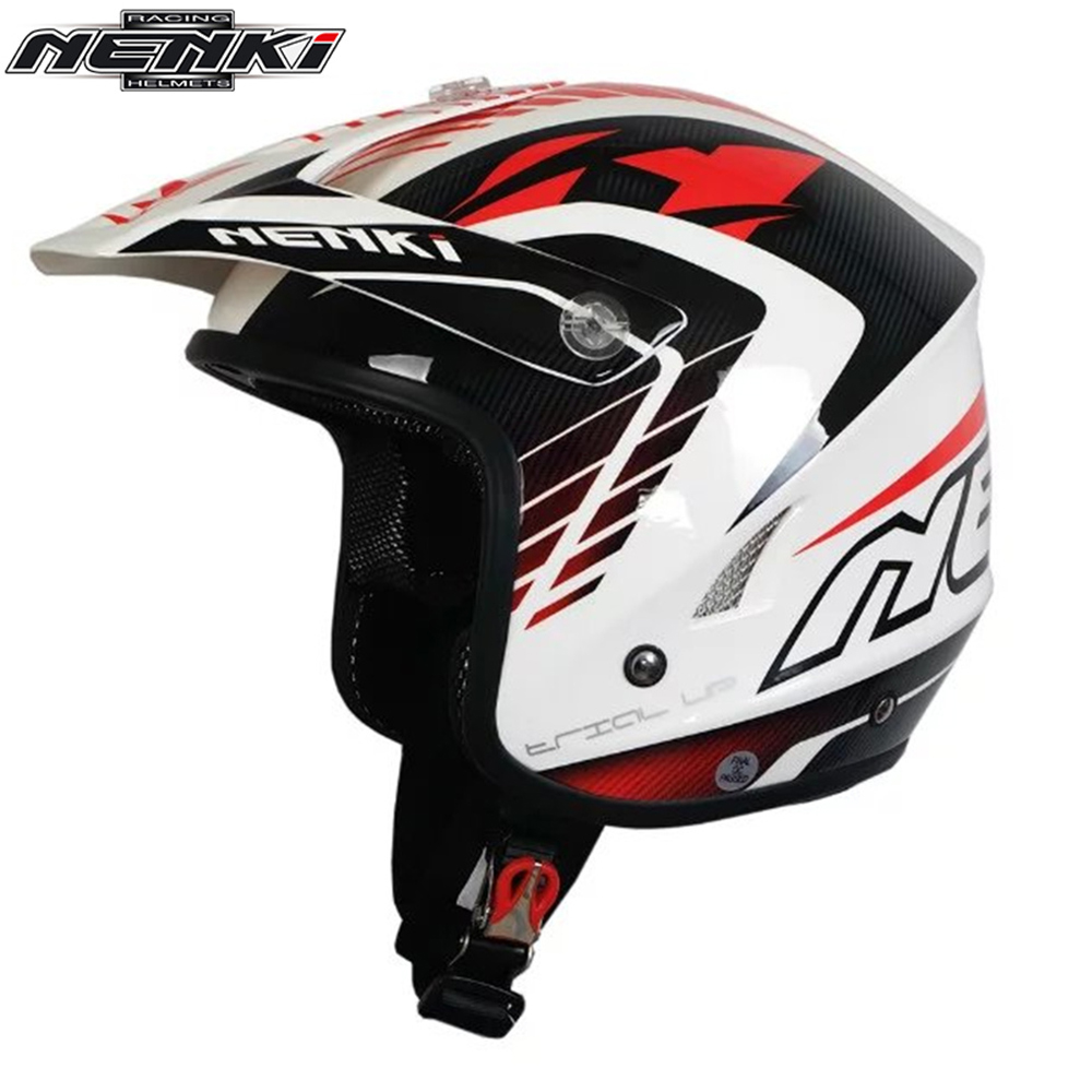 NENKI Motorcycle Open Face Helmet Off-Road Helmet Climb Motorcycle Cross-Country ATV Dirt Bike MX BMX DH MTB Racing Helmet 606 1 6 diecast model bike yamaha cross country motorcycle newray
