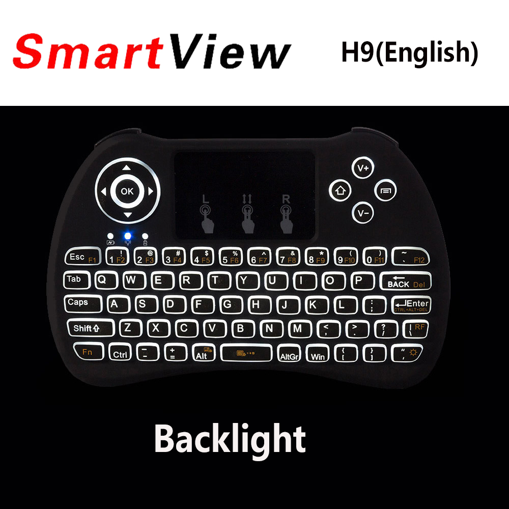 Backlight H9 I8 I8+ 2.4G Wireless English Russian Hebrew Keyboard Backlit with Touchpad for Mini PC Smart TV TV Box Laptop PC new original laptop keyboard for lenovo thinkpad t460p t460s us keyboard english with backlit backlight 00ur395 00ur355