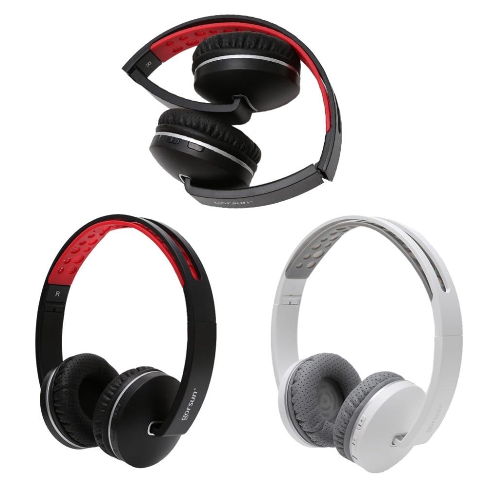 Universal Foldable Wireless Bluetooth V4.1 Headset Stereo Headphone with Mic Earphone for iPhone Samsung HTC Black/White high quality 2016 universal wireless bluetooth headset handsfree earphone for iphone samsung jun22
