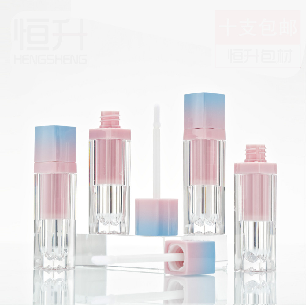 100 pcs 5ml empty square lip gloss tube thick wall lipgloss tube container lip gloss bottle