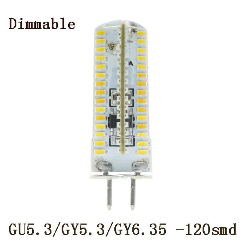 1x Dimmable Led Bulb GU5.3 220V 3014smd  Crystal Light Bulb Chandelier Led 220V GY6.35 LED Lamp