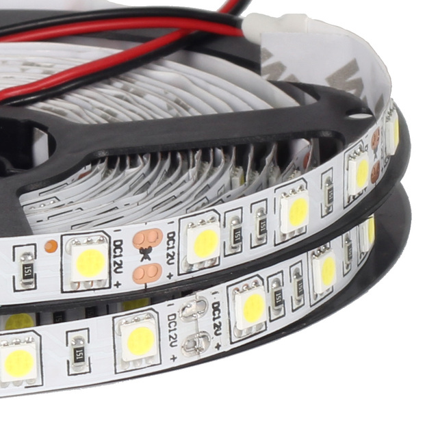 5m Led Strip 5050 60leds M 12v 24v Flexible Light Smd Rgb White Warm
