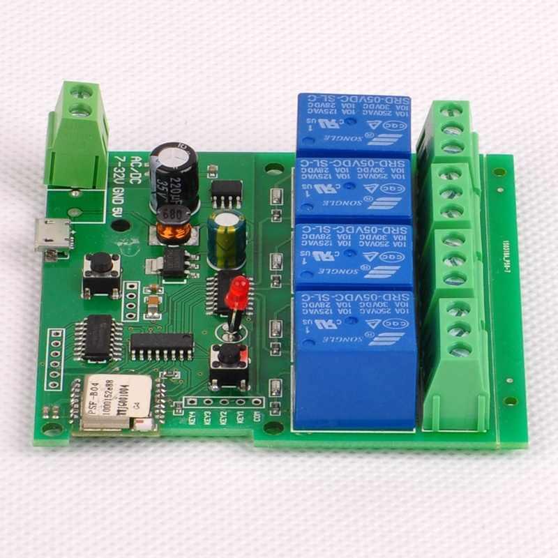 Para Dc7-32V 4Ch Wifi Switch módulo de relé inalámbrico Smart Home Automation para sistema de Control de acceso/bloqueo automático