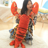 simulation red lobster plush toy large 100cm soft doll throw pillow birthday gift h0727
