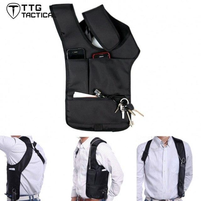 TTGTACTICAL Inspector Bolsa de Hombro Axilas Organizador Billetera Antirrobo Ocultos Axilas Shoulder Bag Cross Body Bag Bolsa Oblicuamente