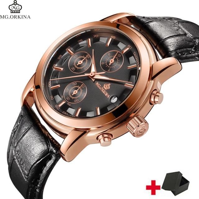 3atm Wasserdichte Beste Qualität Herren Uhren Chrono Business