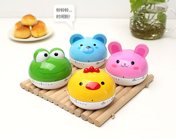 12PCS Hot Sale New Design Cartoon Novelty Kitchen Timer Kitchen Helper Mini  Kitchen Count Down Clip