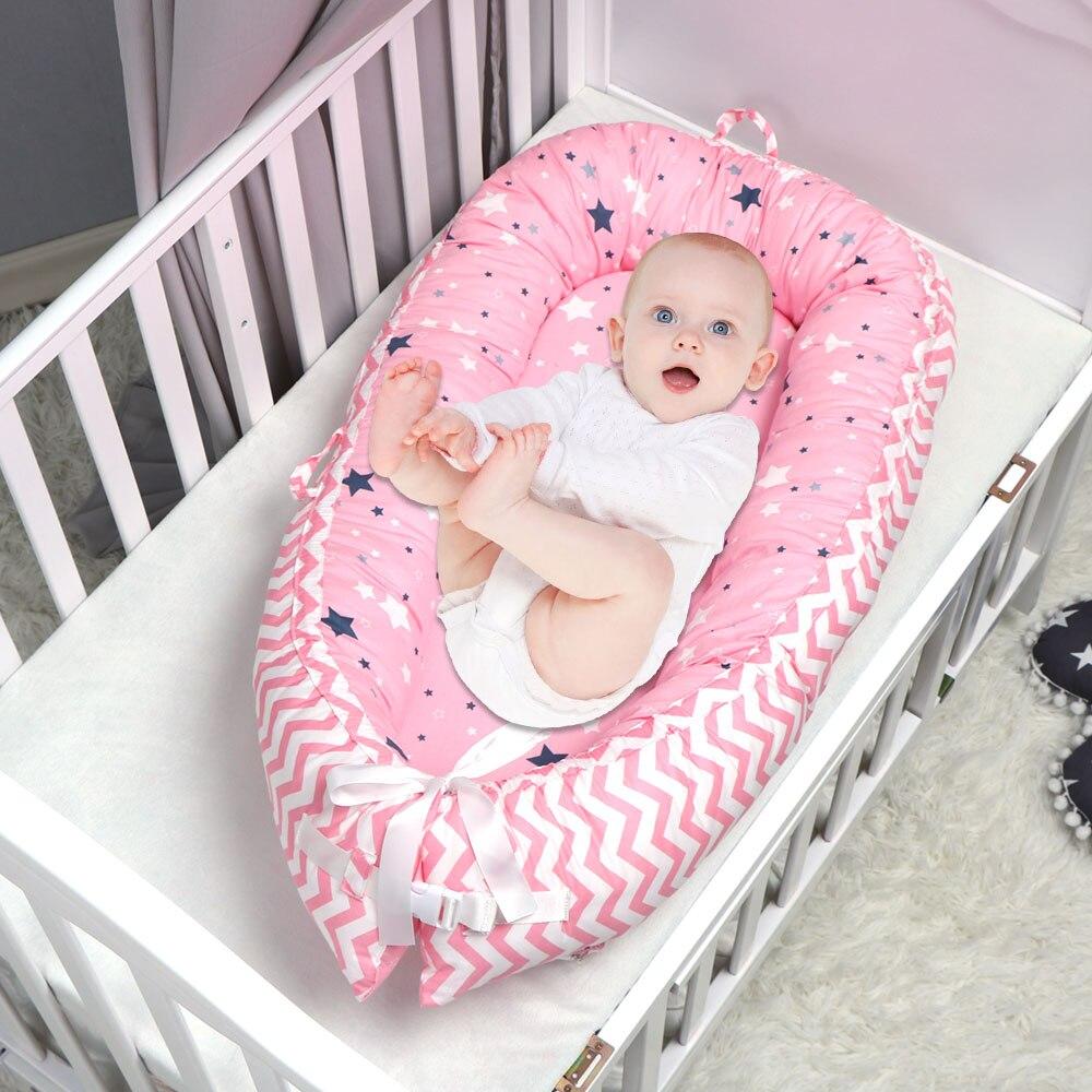 Étoile motif bébé nid lit Portable lit de voyage lit infantile enfant en bas âge berceau en coton pour nouveau-né bébé couffin pare-chocs