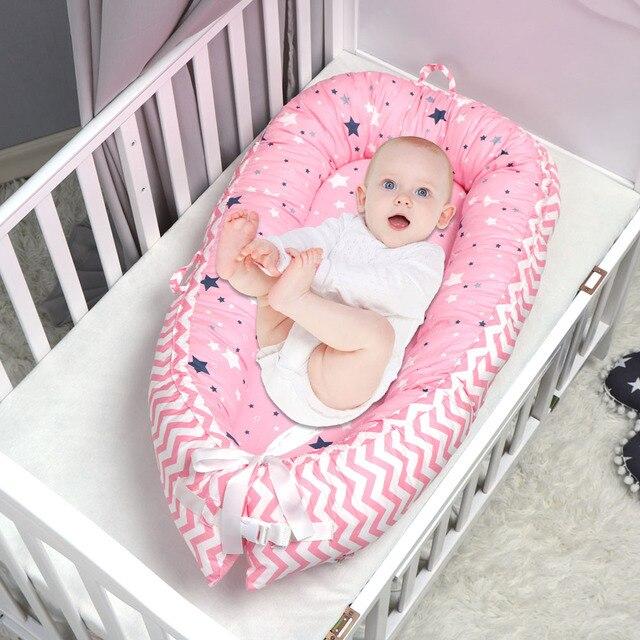 Patrón de estrella cama de nido de bebé cama de viaje portátil cama de algodón para bebé recién nacido cuna parachoques