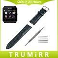 24 мм Из Натуральной Кожи Ремешок для Sony Smartwatch 2 SW2 Smart Watch группа Браслет Ремешок с Инструментом и Весна Бар Черный Коричневый Красный