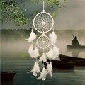 Девушка ручной работы сердце индийский Ловец снов сетка с перьями подвеска на стену, украшение в автомобиль Белый Ловец снов украшение комн...