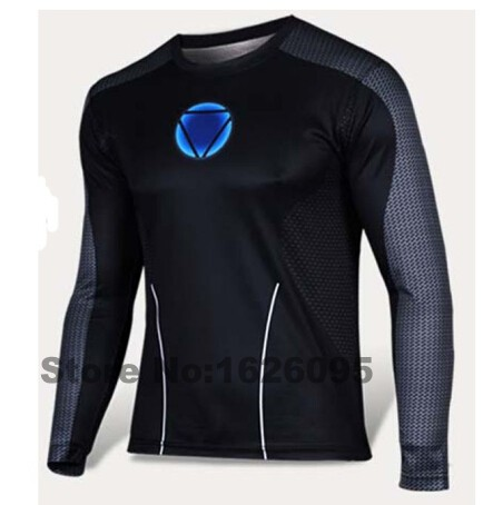 Superman Iron Man Batman Long Sleeve Shirt 3D UV Resist Breathable T-shirt Men Marvel