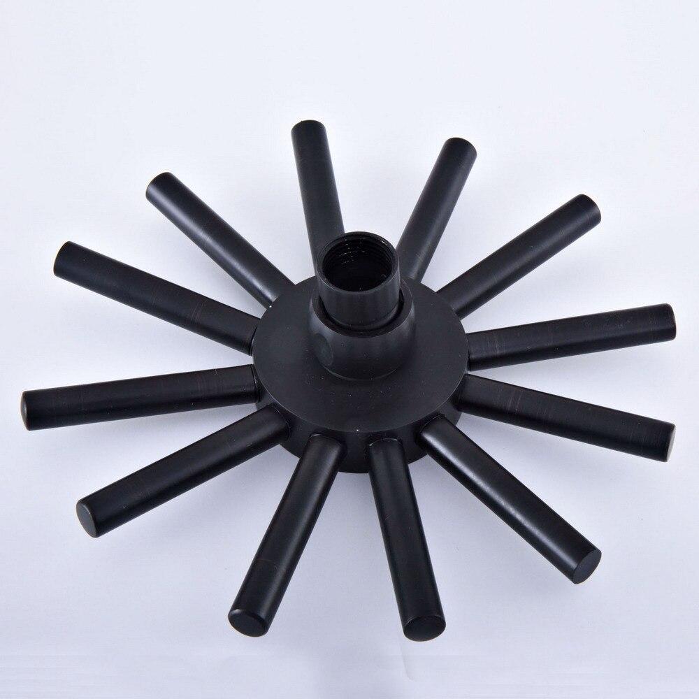 Accessoire de salle de bain 8 pouces noir huile frotté en laiton économie d'eau étoile forme Top pluie pomme de douche raccord de salle de bain ash245