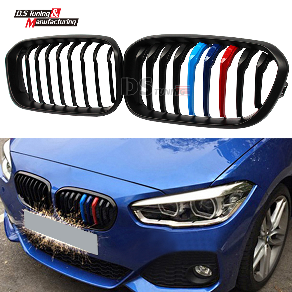 f20 f21 abs material front mesh grill for bmw 1 series f20 f21 2015 2016 5 door vehicle m color. Black Bedroom Furniture Sets. Home Design Ideas