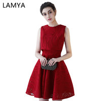 LAMYA Simple Sleeveless Prom Dresses With Jacket Two Pieces Short Evening Party Dress Customized Formal Gown vestido de festa