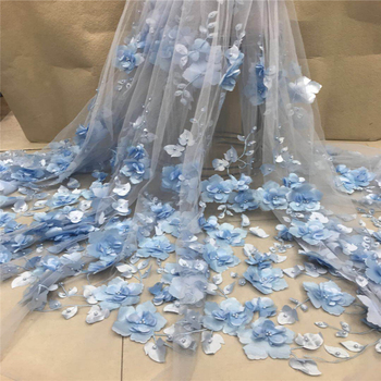 VILLIEA Soft 3D African French Lace Fabric High Quality African Tulle Lace Fabric For Wedding Guipure Lace Chemical Lace Fabric