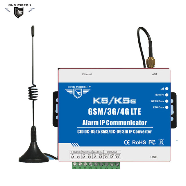 K5 GSM 3g communitcator Voor omzetten De PSTN Ademco ID контакта пульта Панель Ом SMS Оповещатель RU SIA IP GPRS сетевой