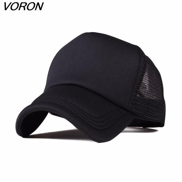 Voron 2017 Venta caliente ajustable gorra de béisbol adultos sombrero sólido  para unisex Classic Trucker SnapBack aeb19593653