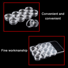 HOT Clear Plastic Sample Container 12 Mini Bottle Jars Cosmetic Tools Nail Art Crafts Storage Box LSF99