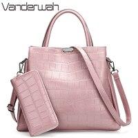 VANDERWAH Crocodile pattern Pink bag Luxury Handbags Women Bags Designer Branded Handbags For Women Purses And Handbags Sac