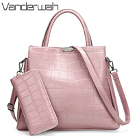 VANDERWAH Crocodile pattern Pink bag Luxury Handbags Women Bags Designer Branded Handbags For Women Purses And Handbags Sac