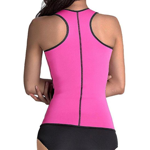 d078ef0a03 Neoprene Sauna Waist Trainer Vest Hot Shaper Summer Workout Shaperwear Slimming  Adjustable Sweat Belt Fajas Body Shaper