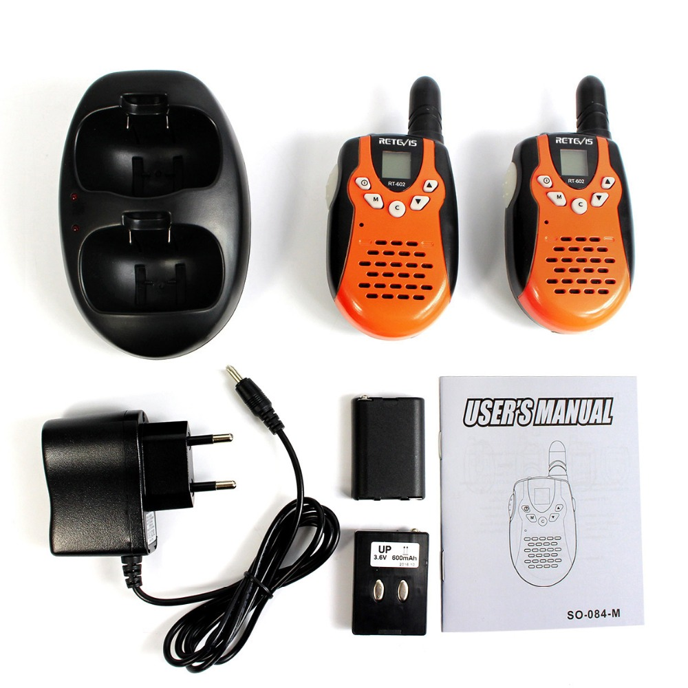 Image 5 - 2pcs Children Walkie Talkie For Kids RETEVIS RT602 0.5W PMR Radio PMR446 FRS VOX Rechargable Battery 2 Way Radio Comunicador-in Walkie Talkie from Cellphones & Telecommunications
