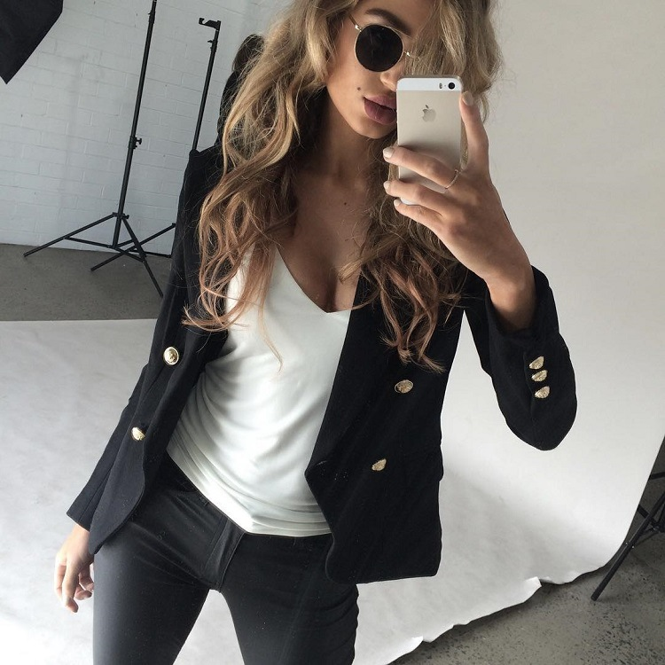 Compare Prices on Black and White Blazer for Women- Online ...