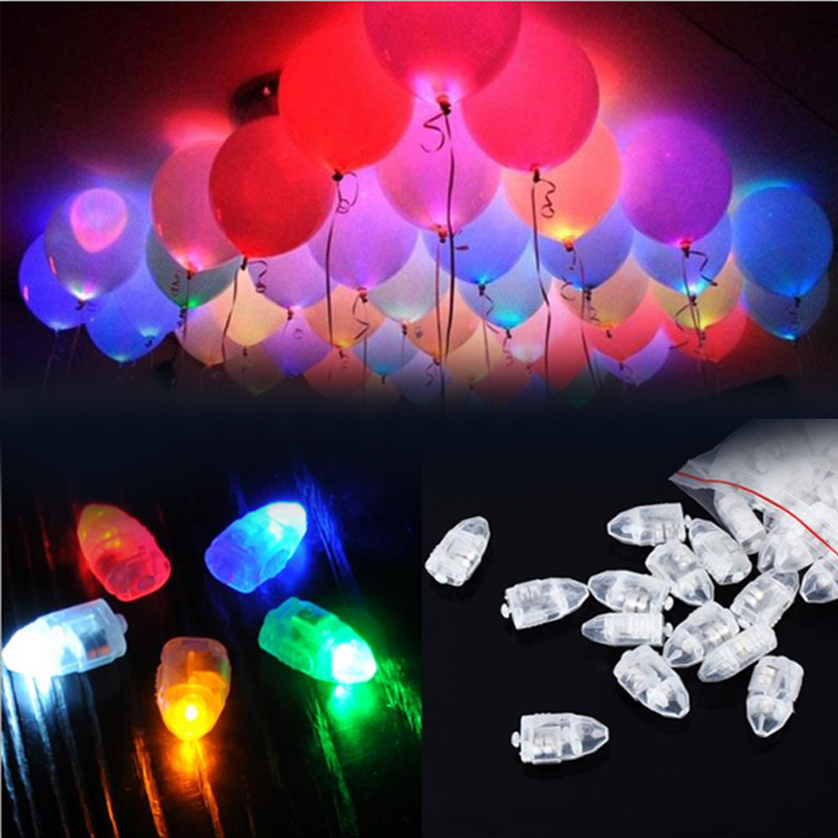 20pcs/lot Colorful LED Balloon Light Glow Flash Ball Lamps Paper Mini Lantern Balloon Lamp Christmas Halloween Party Decoration