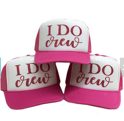 I Do Crew Bridesmaid Glitter Drunk In Love Trucker Hats