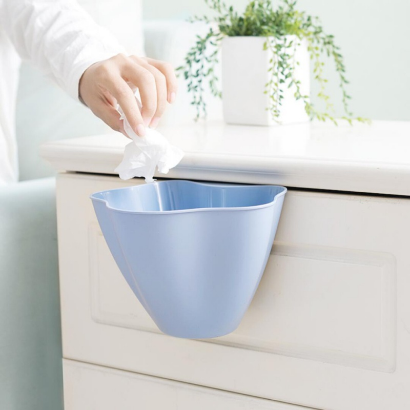 Multifunction Storage Box Kitchen Cupboard Door Hanging Garbage Cans Desktop Rubbish Organize Container Debris Trash Bins
