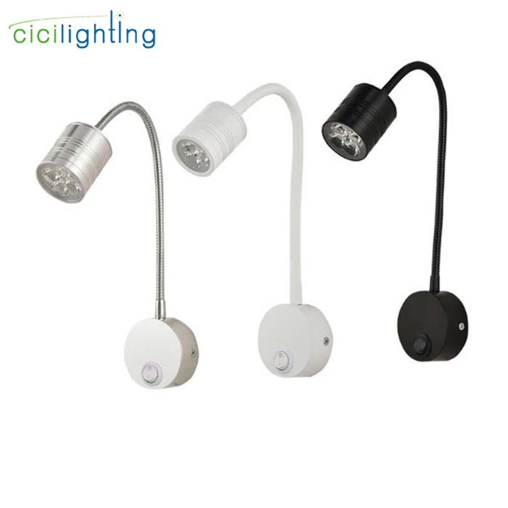 5W LED Şlanqlar Divar lampası Çevik Ev Otel Yataq otağı Oxu Divar İşıq Müasir Kitab İşıqları Alüminium LED Nlight yüngül işıqlar dekorasiya