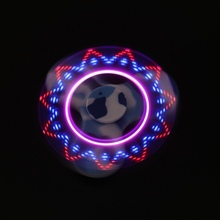 4สีไฟLED Tri-s Pinnerอยู่ไม่สุขของเล่นEDCมือปั่นสำหรับออทิสติกและสมาธิสั้นความวิตกกังวลความเครียดบรรเทาโฟกัสของเล่นเด็กของขวัญM1