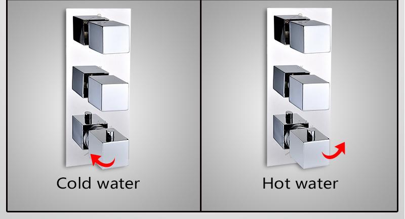 DCAN Bathroom Thermostatic Mixer Valve Brass Chrome Finish Shower Faucet Mixer Valve 3-4 Ways Faucet Bath Faucet Accessories (24)