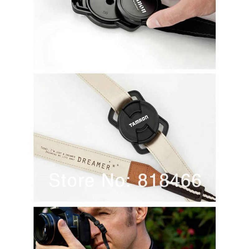 Pengiriman gratis tutup lensa kamera, Kiper 52 mm 58 mm 67 mm yang Universal Anti - menurunkan pemegang gesper
